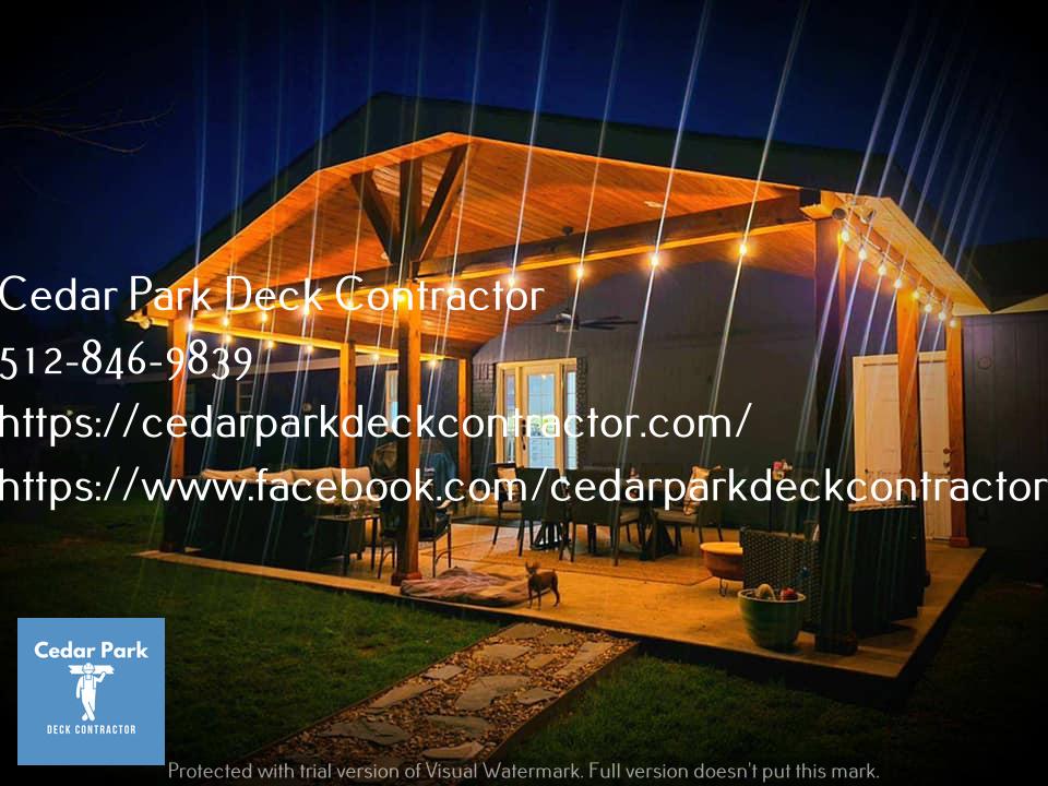 Covered Patio Cedar Park TX